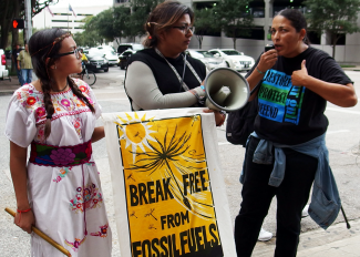Grassroots action for climate justice in Houston